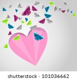 origami  abstract background.... | Shutterstock .eps vector #101036662