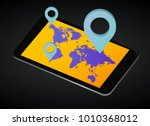 map. mobile world map. vector...