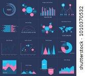 infographics set data charts.... | Shutterstock .eps vector #1010370532