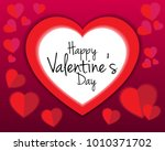 valentine's day heart and love... | Shutterstock .eps vector #1010371702
