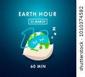 illustration of earth hour. 25... | Shutterstock .eps vector #1010374582
