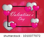 valentine s day abstract... | Shutterstock .eps vector #1010377072