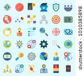 icons set about marketing with...   Shutterstock .eps vector #1010385898