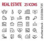 real estate icons set | Shutterstock .eps vector #1010386735