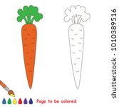 red one single carrot to be... | Shutterstock .eps vector #1010389516