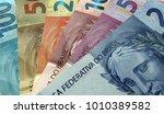 all the brazilian notes money... | Shutterstock . vector #1010389582