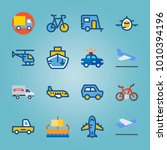 icon set about transport with... | Shutterstock .eps vector #1010394196