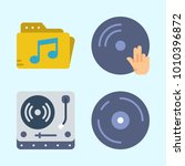 icons set about music with disc ... | Shutterstock .eps vector #1010396872