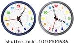 vector set of rainbow colors... | Shutterstock .eps vector #1010404636
