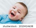 portrait of an adorable 3 month ...   Shutterstock . vector #1010414638