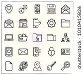 business line icons set... | Shutterstock .eps vector #1010415826