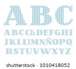 uppercase letters of the... | Shutterstock .eps vector #1010418052
