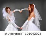 the two brides | Shutterstock . vector #101042026
