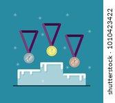 banner of awarding ceremony.... | Shutterstock .eps vector #1010423422