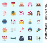 icons set about wedding with...   Shutterstock .eps vector #1010425702