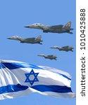 Waving Colorful Flag Of Israel...