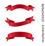ribbon banners.vector ribbons... | Shutterstock .eps vector #1010429608