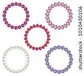 gemstone vector circle frames... | Shutterstock .eps vector #1010430106