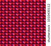 mod heart background valentines ... | Shutterstock .eps vector #1010430112