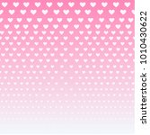 pink hearts background of love... | Shutterstock .eps vector #1010430622