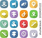 flat vector icon set   pointer... | Shutterstock .eps vector #1010435122