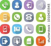 flat vector icon set   call...   Shutterstock .eps vector #1010435545