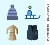 icons set about winter with...   Shutterstock .eps vector #1010435926