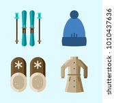 icons set about winter with...   Shutterstock .eps vector #1010437636