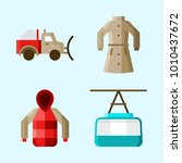 icons set about winter with...   Shutterstock .eps vector #1010437672