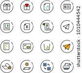 line vector icon set   gift...   Shutterstock .eps vector #1010444542