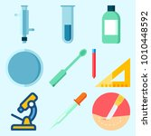 icons set about laboratory with ... | Shutterstock .eps vector #1010448592