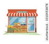 grocery store front | Shutterstock .eps vector #1010453878
