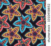 vector seamless pattern ethnic... | Shutterstock .eps vector #1010458852