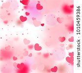 hearts random background. st.... | Shutterstock .eps vector #1010459386