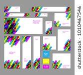 web banners set in standard... | Shutterstock .eps vector #1010467546