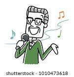 senior man  to sing | Shutterstock .eps vector #1010473618