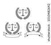 law firm logo design vector set | Shutterstock .eps vector #1010482642