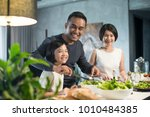 happy asian family preparing... | Shutterstock . vector #1010484385