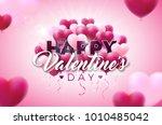 valentines day illustration... | Shutterstock . vector #1010485042
