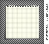 blank checkered note book page... | Shutterstock .eps vector #1010485666