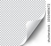 curly page corner realistic... | Shutterstock .eps vector #1010485672