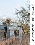 Old Derelict Small Caravan...