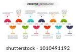timeline for 12 months  1 year  ... | Shutterstock .eps vector #1010491192
