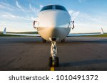 front view of a private jet... | Shutterstock . vector #1010491372