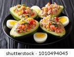 delicious food  healthy salad... | Shutterstock . vector #1010494045