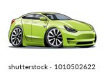 vector cartoon electric car.... | Shutterstock .eps vector #1010502622
