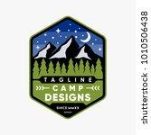 camp emblem logo design... | Shutterstock .eps vector #1010506438