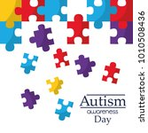 autism awareness poster with... | Shutterstock .eps vector #1010508436