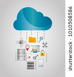 cloud data streams storage file ... | Shutterstock .eps vector #1010508586