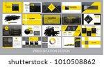 presentation template for... | Shutterstock .eps vector #1010508862
